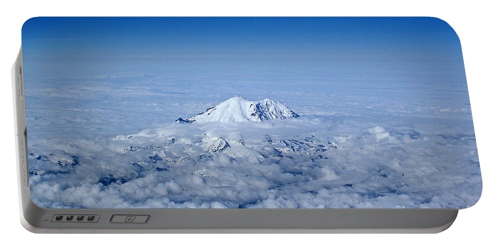 Nature Portable Battery Charger featuring the photograph Above The Clouds by Rebecca Morgan