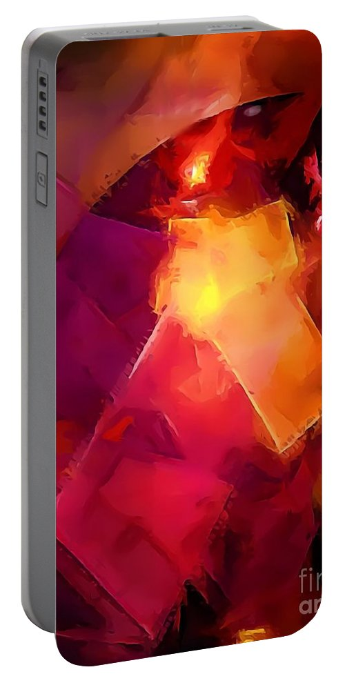 Graphics Portable Battery Charger featuring the digital art Abs 0264 by Marek Lutek