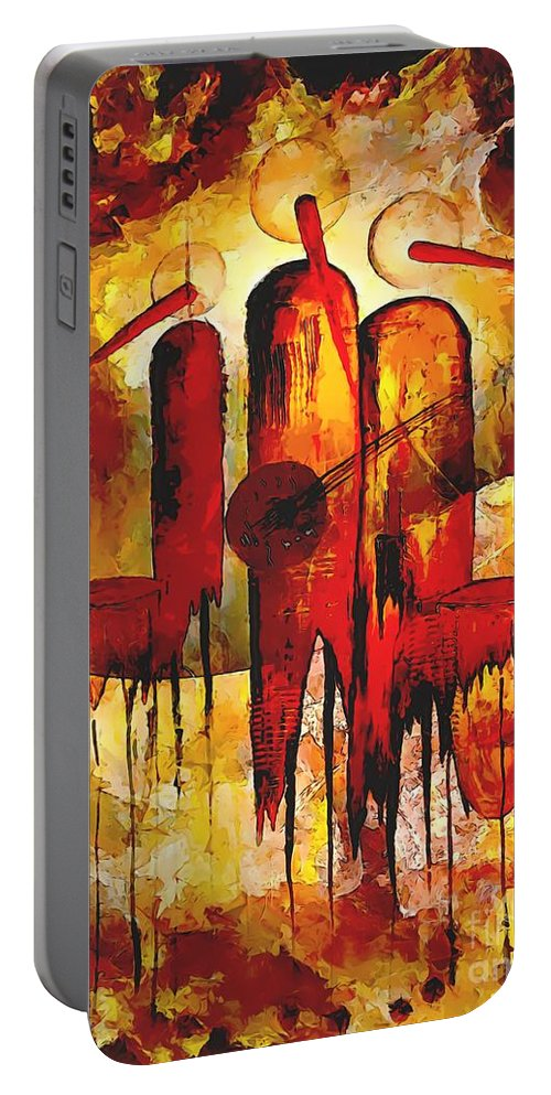 Graphics Portable Battery Charger featuring the digital art Abs 0274 by Marek Lutek