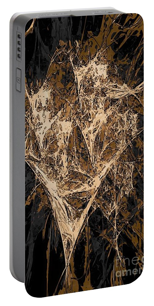 Graphics Portable Battery Charger featuring the digital art Abs 0287 by Marek Lutek