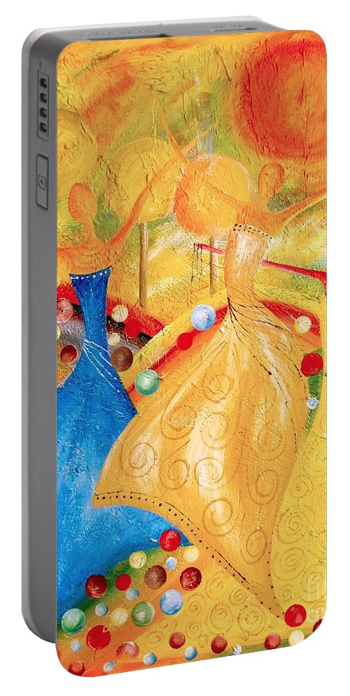 Graphics Portable Battery Charger featuring the painting Abs 0459 by Marek Lutek