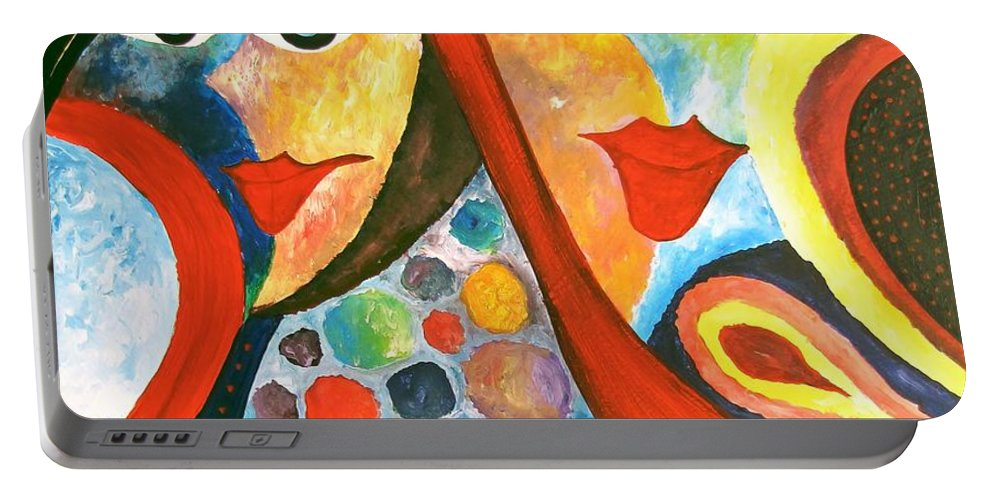 Graphics Portable Battery Charger featuring the painting Abs 0470 by Marek Lutek