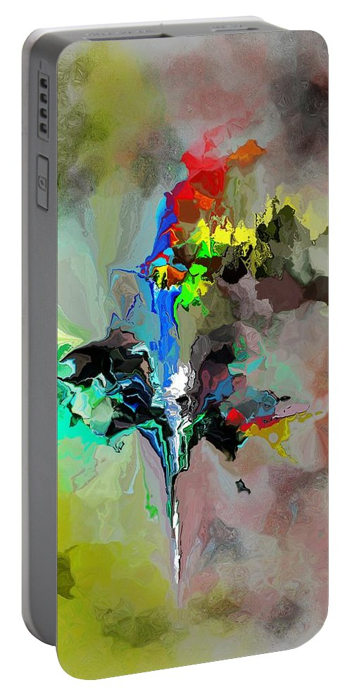 Fine Art Portable Battery Charger featuring the digital art Abstract 082412-1 by David Lane
