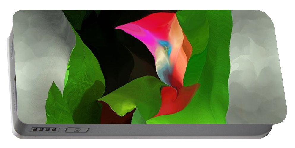 Fine Art Portable Battery Charger featuring the digital art Abstract 091912a by David Lane