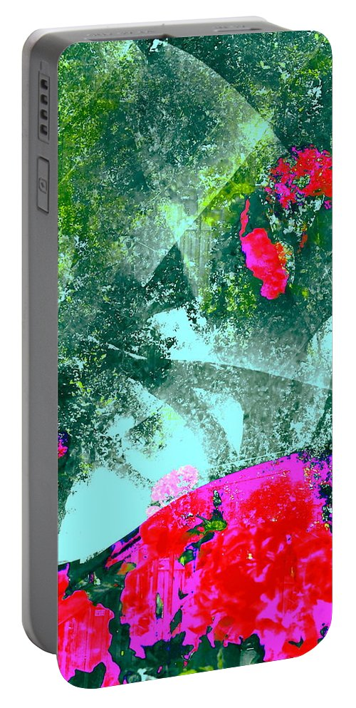 Abstract Portable Battery Charger featuring the photograph Abstract 127 by Pamela Cooper