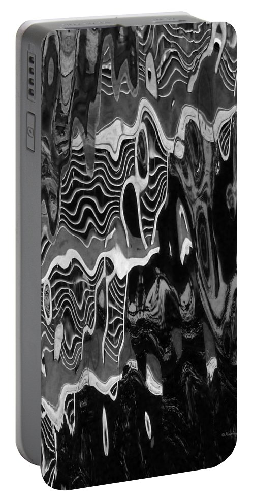 An Abstract Portable Battery Charger featuring the photograph Abstract 13b by Xueling Zou