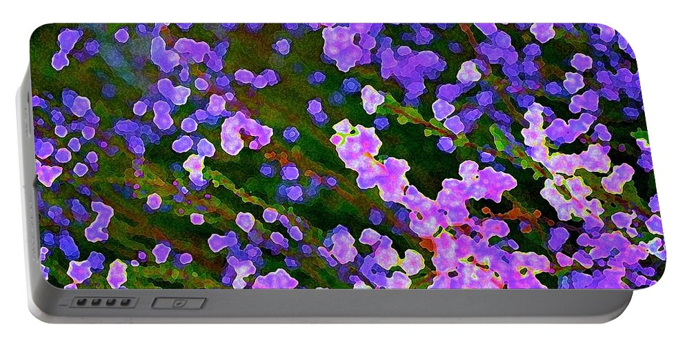 Abstract Portable Battery Charger featuring the photograph Abstract 207 by Pamela Cooper
