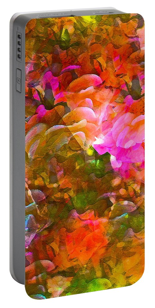 Abstract Portable Battery Charger featuring the photograph Abstract 271 by Pamela Cooper