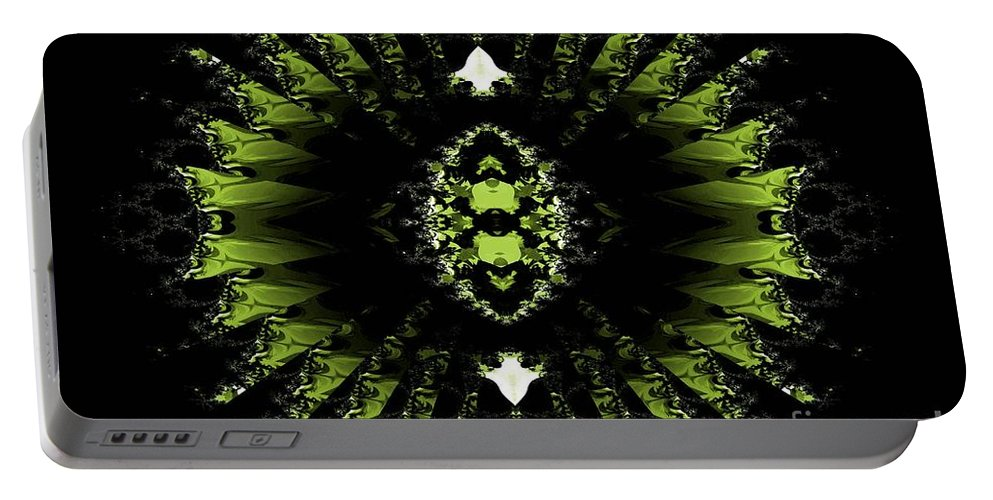 Abstract Portable Battery Charger featuring the digital art Abstract 38 by Maria Urso