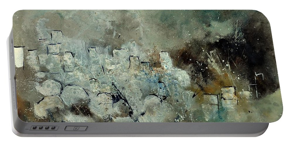 Abstract Portable Battery Charger featuring the painting Abstract 66210101 by Pol Ledent