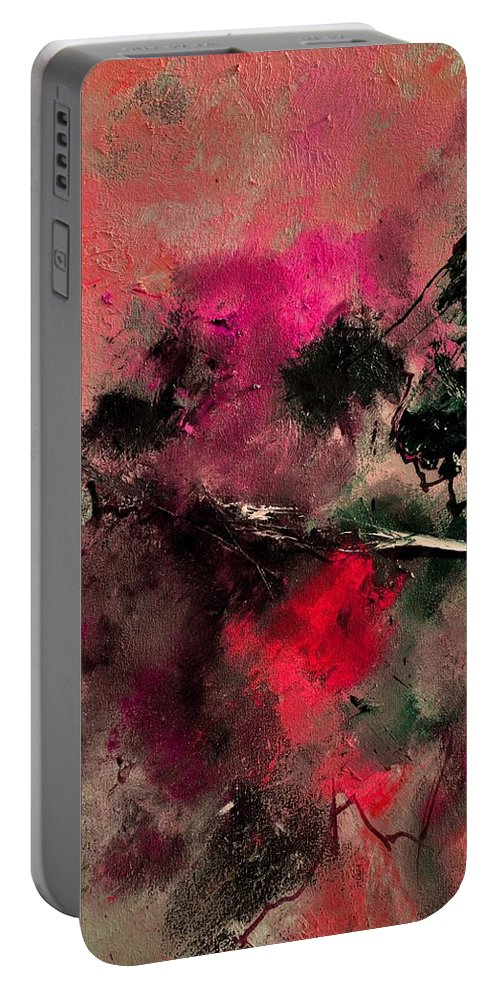 Abstract Portable Battery Charger featuring the painting Abstract 69210102 by Pol Ledent
