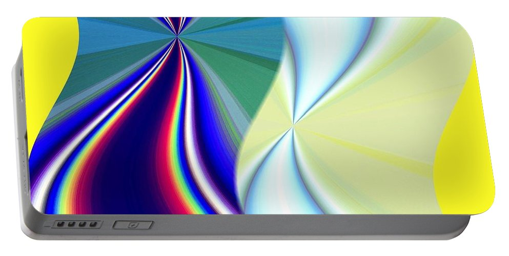 Abstract Fusion Portable Battery Charger featuring the digital art Abstract Fusion 50 by Will Borden