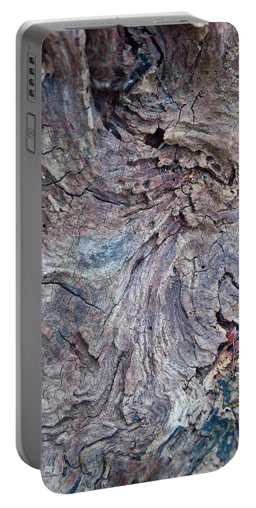 Wood Portable Battery Charger featuring the photograph Abstract In Blue 1 by Douglas Barnett