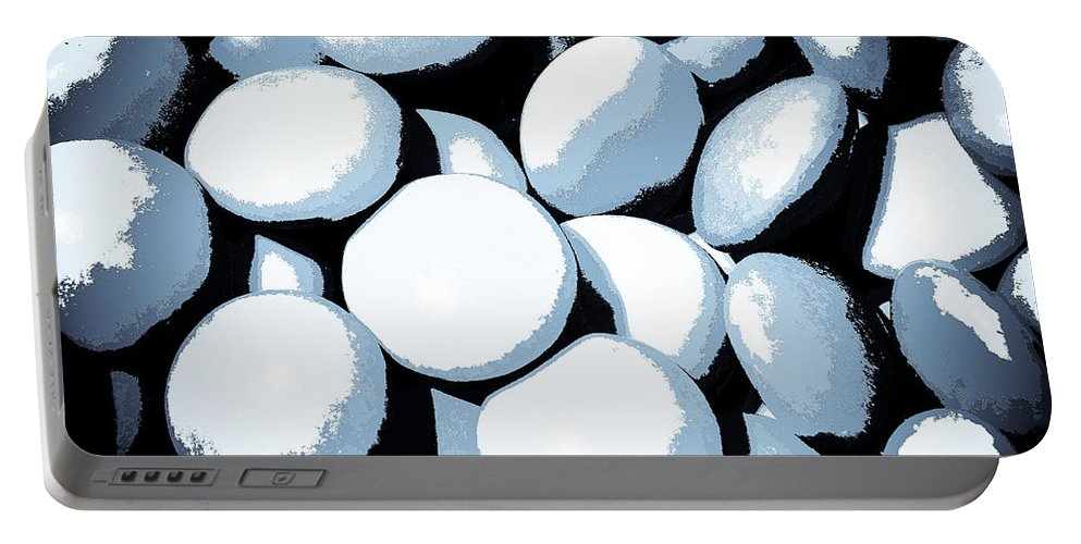 Negative Portable Battery Charger featuring the digital art Abstract In Selenium by David Pyatt
