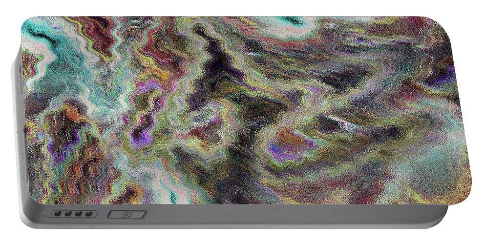 Digital Portable Battery Charger featuring the digital art Abstract Pastel Art by David Pyatt