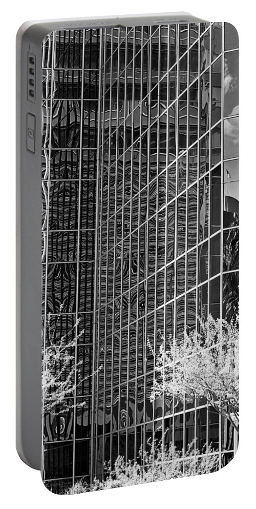 City Portable Battery Charger featuring the photograph Abstract Walls Black And White by Phyllis Denton