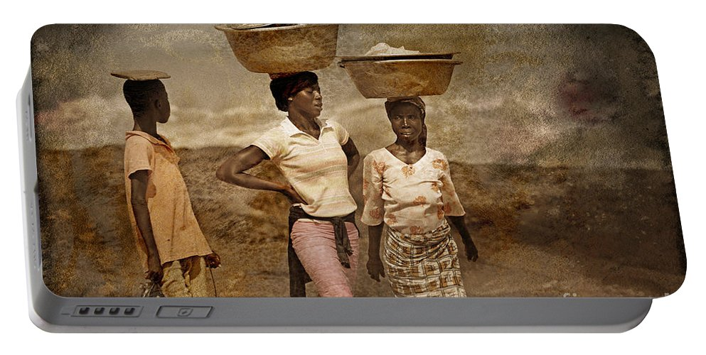 Ghana Portable Battery Charger featuring the photograph After Errands by Naoki Takyo