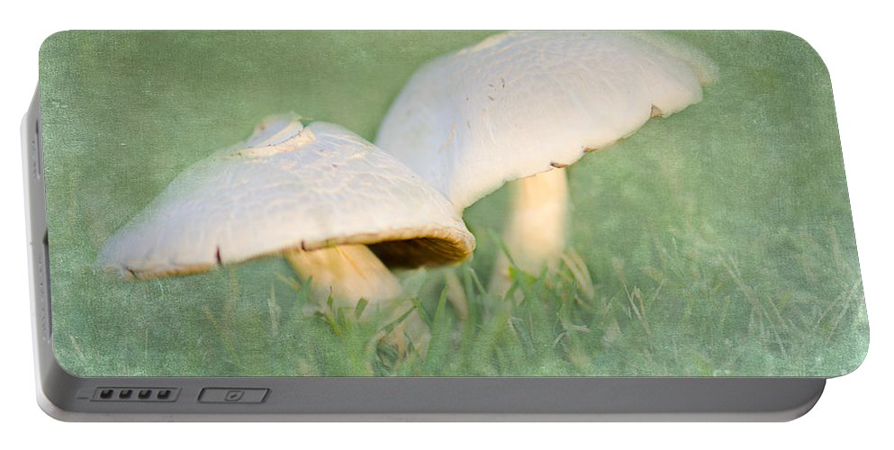 Mushroom Portable Battery Charger featuring the photograph After The Rain by Betty LaRue