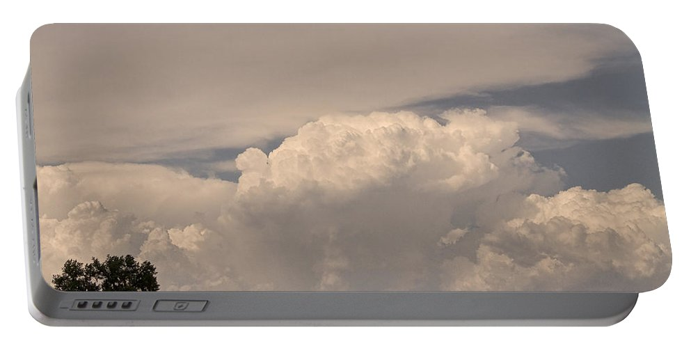 Afternoon Portable Battery Charger featuring the photograph Afternoon Thunderstorm Building Boulder County Co Plains by James BO Insogna