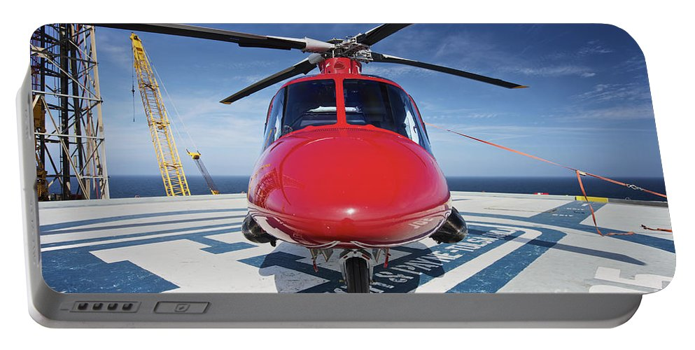 Horizontal Portable Battery Charger featuring the photograph Agustawestland Aw109e Utility by Terry Moore