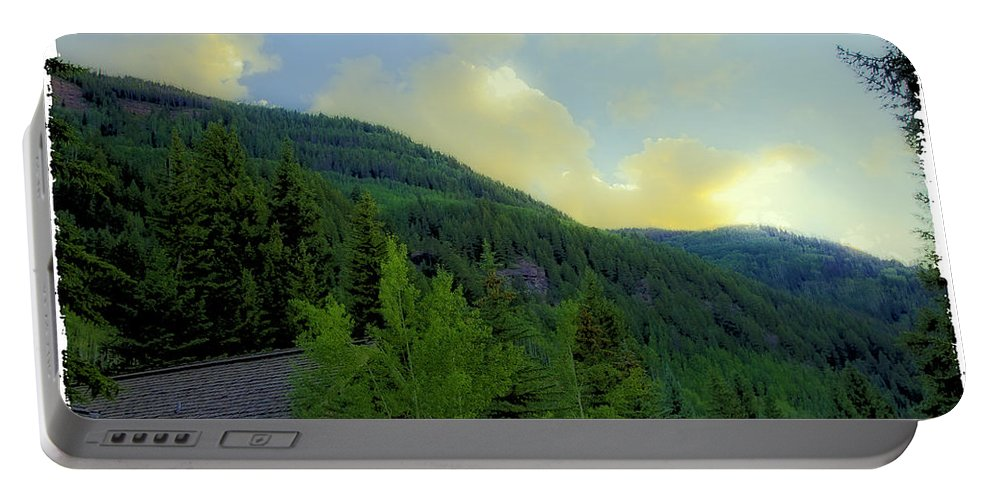 Colorado Portable Battery Charger featuring the photograph Ah To Live On Vail Mountain by Madeline Ellis