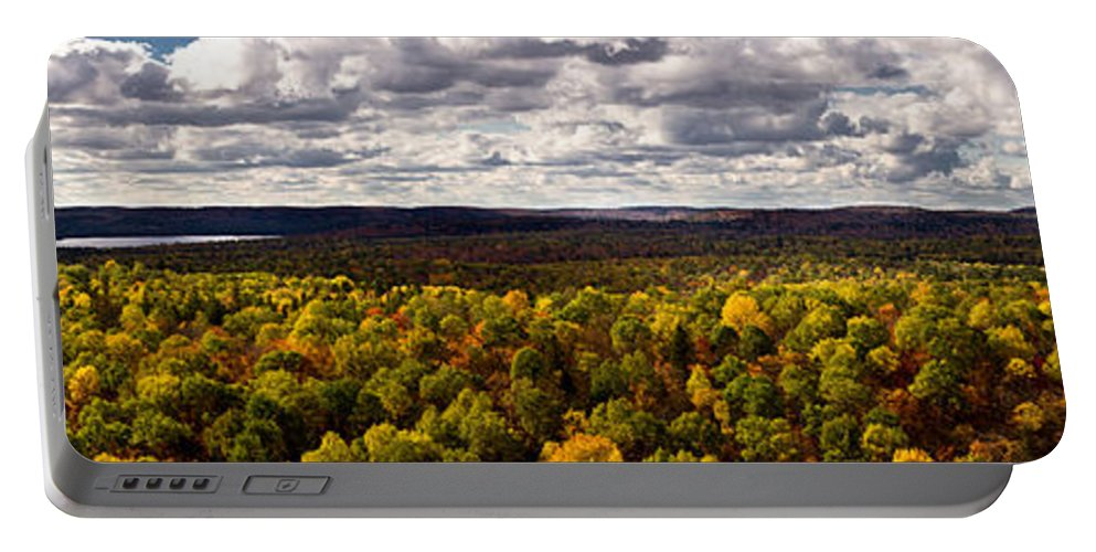 Algonquin Portable Battery Charger featuring the photograph Algonquin Park Panorama by Cale Best