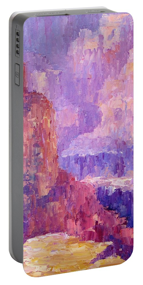 Grand Canyon Portable Battery Charger featuring the painting All Canyon by Terry Chacon