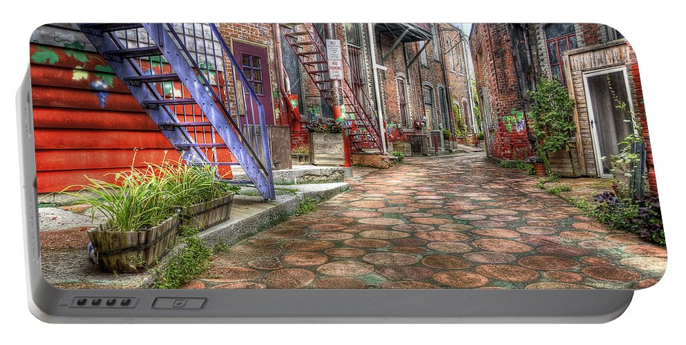 Hdr Portable Battery Charger featuring the photograph Alley by Brian Fisher