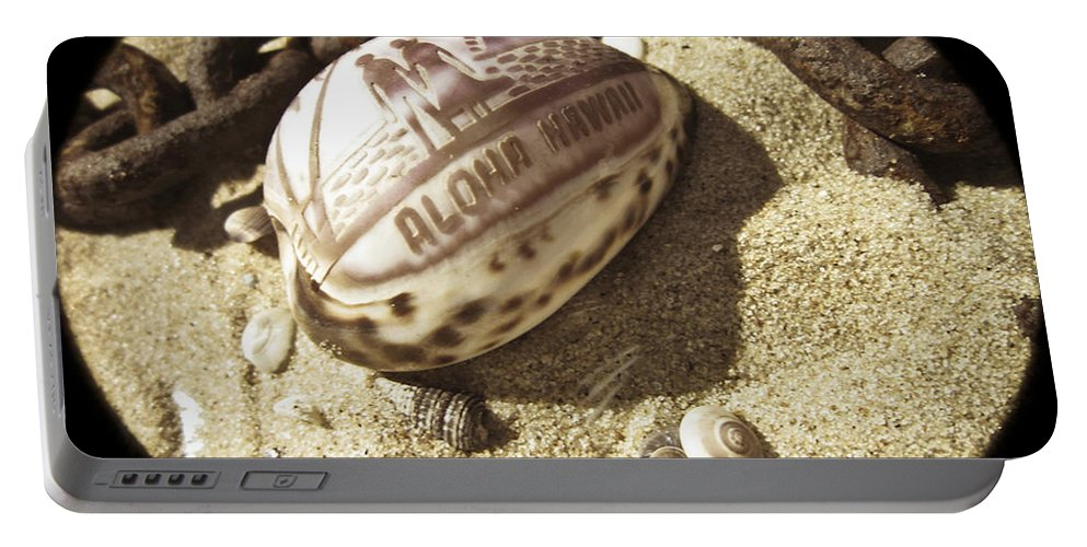 Sand Portable Battery Charger featuring the photograph Aloha by Trish Tritz