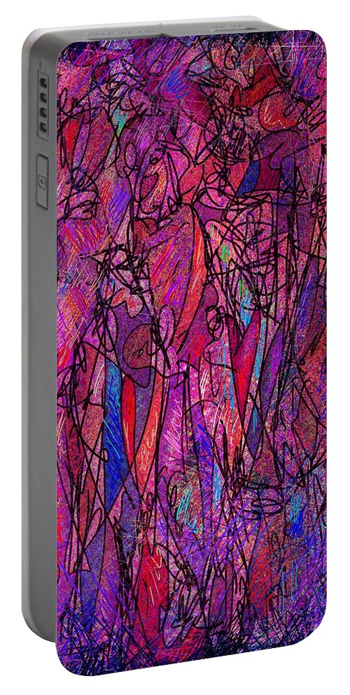 Figure Portable Battery Charger featuring the digital art Alone In A Crowd by William Russell Nowicki