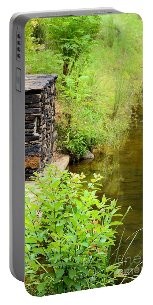Along Portable Battery Charger featuring the photograph Along The Shallow Water by Maria Urso