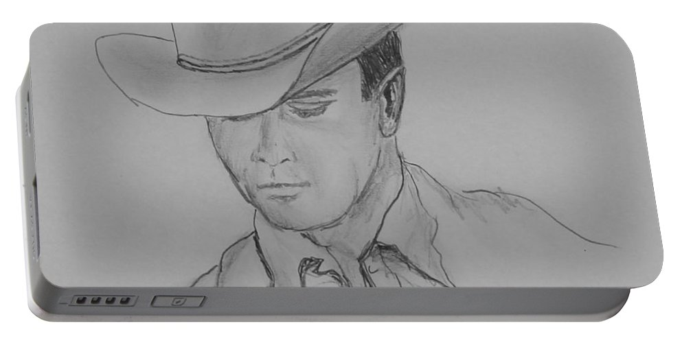Cowboy Portable Battery Charger featuring the drawing Always Cowboy by Kume Bryant