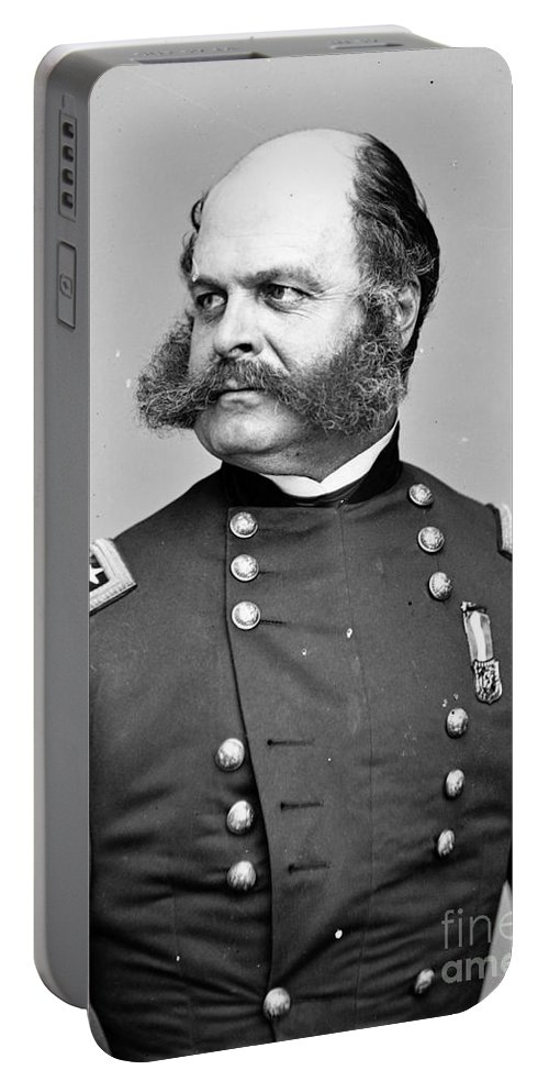 Government Portable Battery Charger featuring the photograph Ambrose Burnside, Union General by Photo Researchers