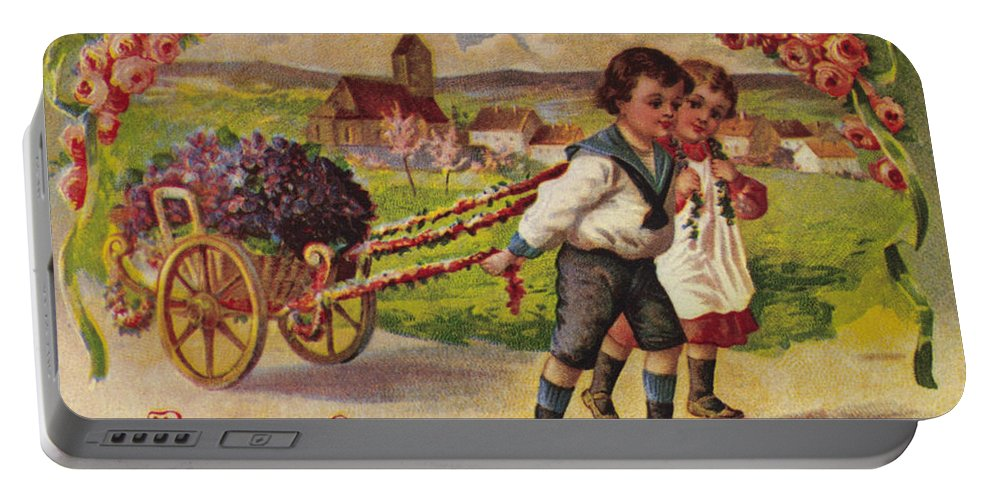 19th Century Portable Battery Charger featuring the photograph American Birthday Card by Granger