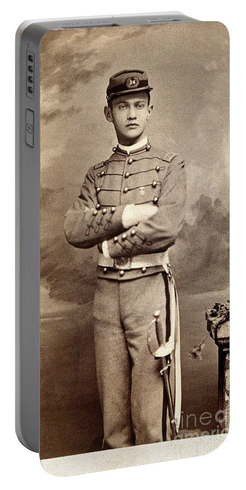 1880s Portable Battery Charger featuring the photograph American Cadet, C1870 by Granger