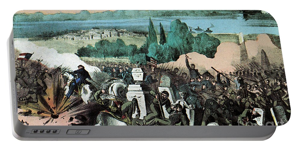 History Portable Battery Charger featuring the photograph American Civil War, Battle Of Baton by Photo Researchers