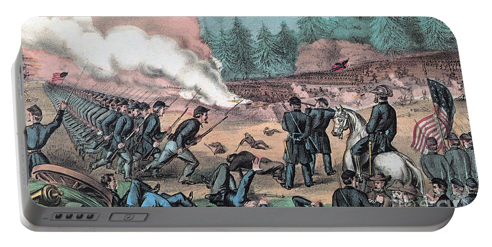 History Portable Battery Charger featuring the photograph American Civil War, Battle Of Cold by Photo Researchers