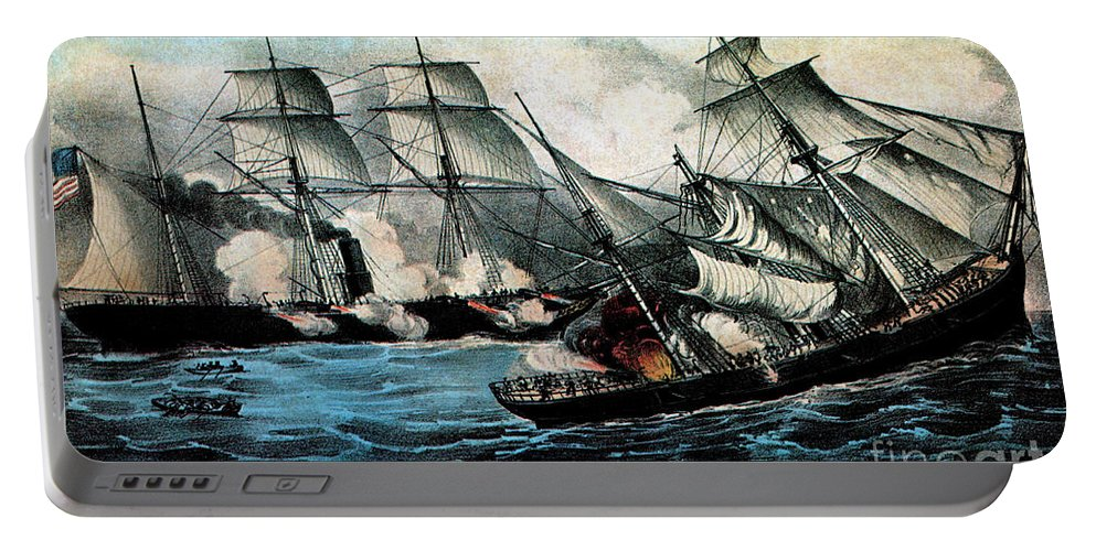 History Portable Battery Charger featuring the photograph American Civil War, Battle by Photo Researchers