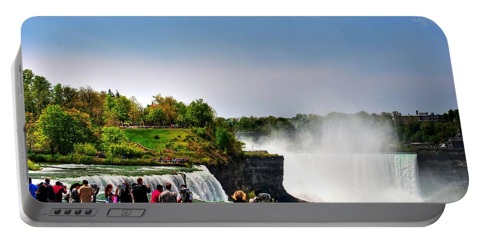 Portable Battery Charger featuring the photograph American Falls by Michael Frank Jr