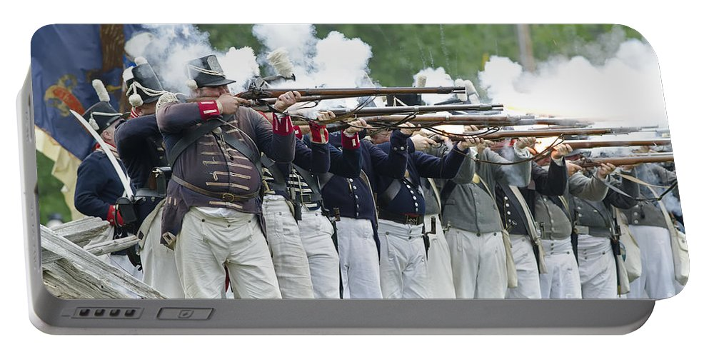War Of 1812 Portable Battery Charger featuring the photograph American Firing Line by JT Lewis