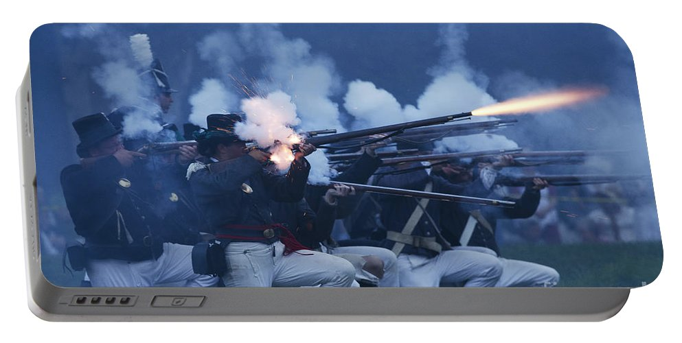 War Of 1812 Portable Battery Charger featuring the photograph American Night Battle by JT Lewis