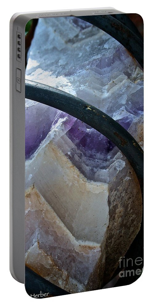 Outdoors Portable Battery Charger featuring the photograph Amethyst by Susan Herber