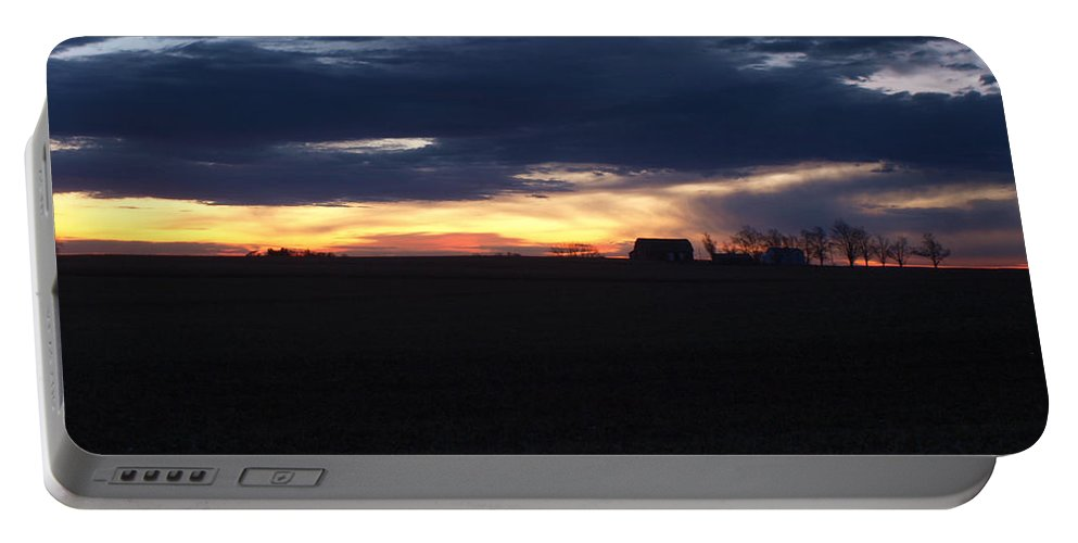 Amish Portable Battery Charger featuring the photograph Amish Sunrise by Joshua House