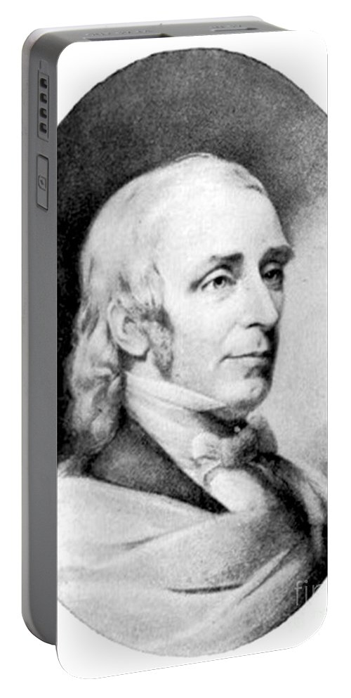 Education Portable Battery Charger featuring the photograph Amos Bronson Alcott, American Educator by Photo Researchers