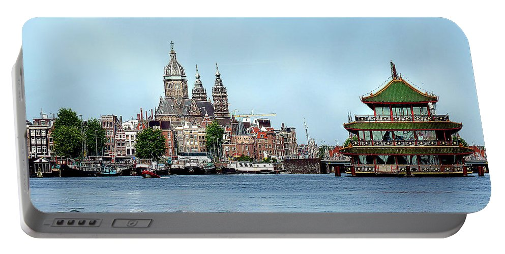 Amsterdam Portable Battery Charger featuring the photograph Amsterdam by Diana Haronis