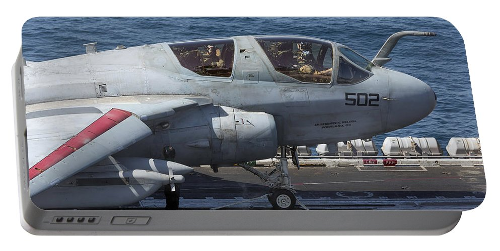 Arabian Sea Portable Battery Charger featuring the photograph An Ea-6b Prowler During Flight by Gert Kromhout