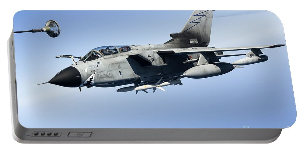50 Stormo Portable Battery Charger featuring the photograph An Italian Air Force Tornado Ids by Gert Kromhout