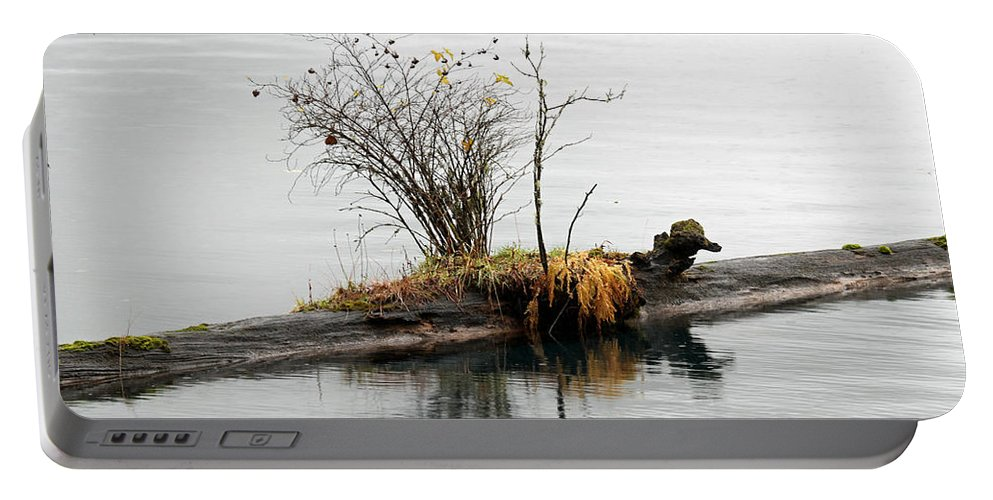 Lake Portable Battery Charger featuring the photograph An Outpost by Marie Jamieson
