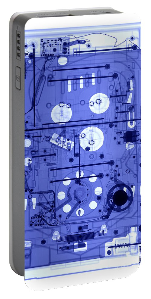 Xray Portable Battery Charger featuring the photograph An X-ray Of A Pinball Machine by Ted Kinsman