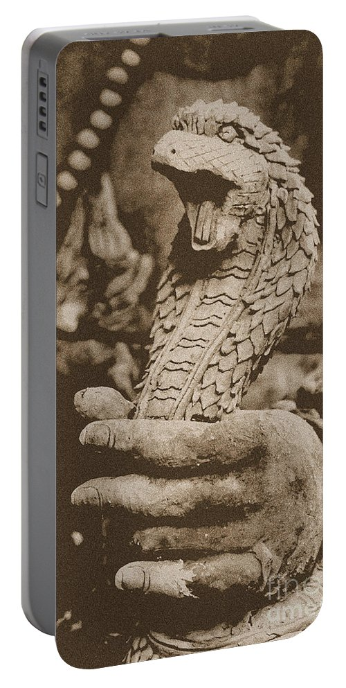 Cobra Portable Battery Charger featuring the photograph Ancient Cobra by Nola Lee Kelsey